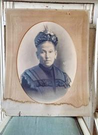 Oude potretfoto dame