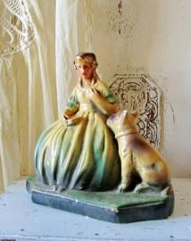 Madame met hond.