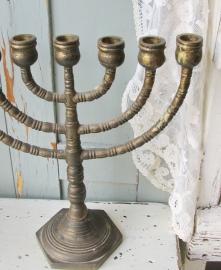 Joodse kandelaar  VERKOCHT