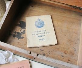 Wegenkaart uit 1955   VERKOCHT