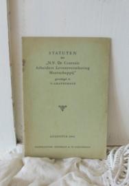 Statuten uit 1941   VERKOCHT