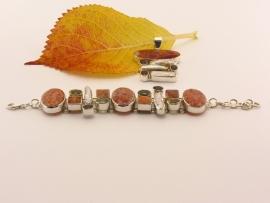 ___210965___ Zilveren armband met bijpassende hanger