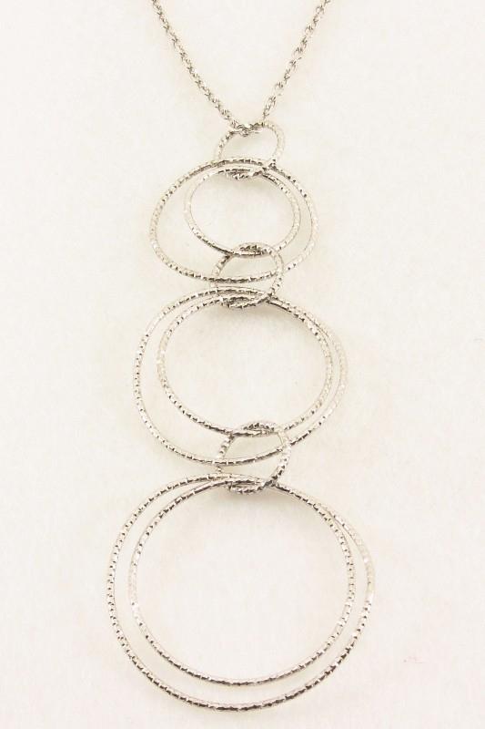 ___261584___ Zilveren hanger draad ringen met collier