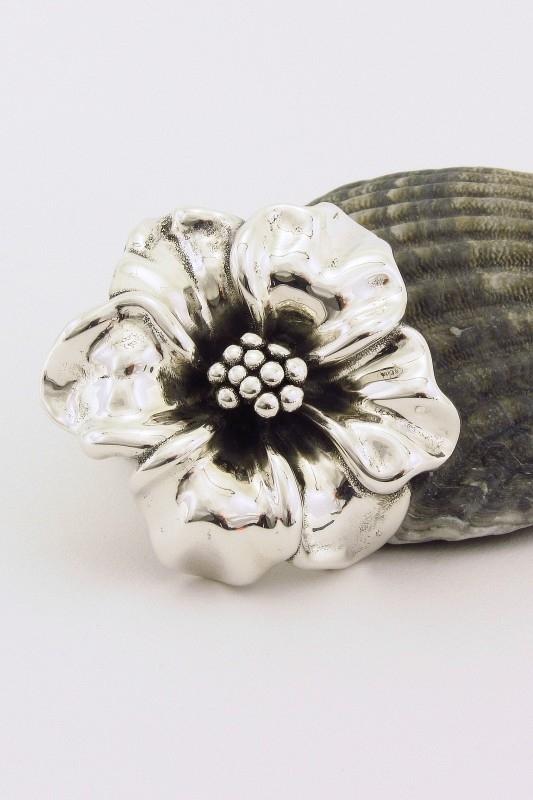 ___241059___  Zilveren hanger bloem