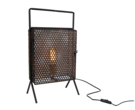 "Tafellamp ""Leaf"" zwart metaal 28x18x50cm"