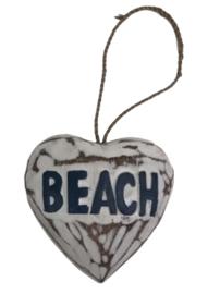Hart 10 cm Beach blauw