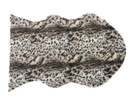Artificial leopard skin rug 60x90cm