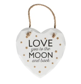 Love you to the Moon hart