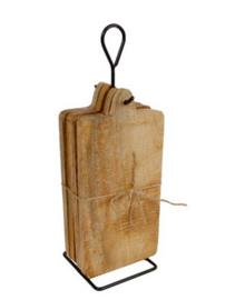 Onderbord / tapasplank op  standaard naturel hout 35x12x10cm