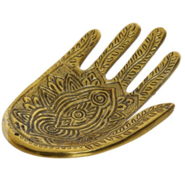 Incense stand hand gold