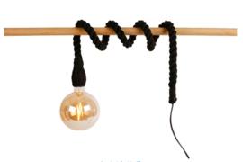 Fitting aan touw 150cm zwart