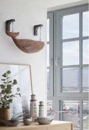 WHALE WITH HANGING SUPPORTS, L:60cm H:30cm