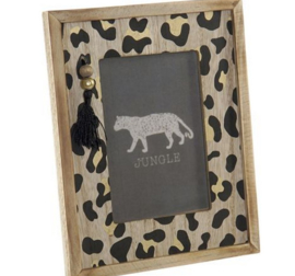 PHOTO FRAME MDF 10X15 LEOPARD NATURAL