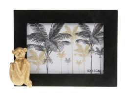 Photo frame wood 16x3.5x12cm - Black monkey gold