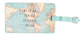 Sass & Belle Vintage Map Luggage tag