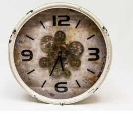 Raderklok vintage wit