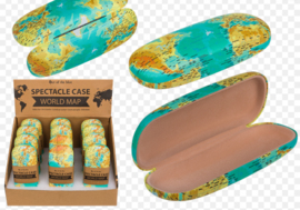 Glasses Case world map