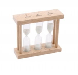 Natural Wood Egg Timer 3, 4, & 5 Minute