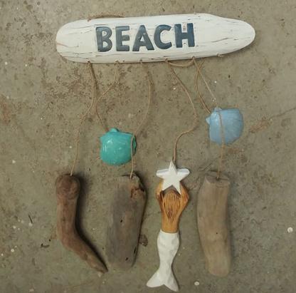 Mermaid wood vertikaal Beach