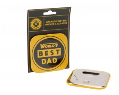 Worlds best dad coaster & bottle opener