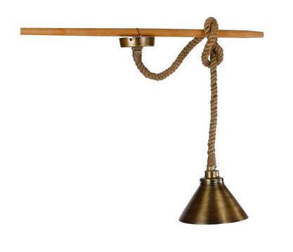 Hanglamp rond dik touw zink metaal 25x25x15cm