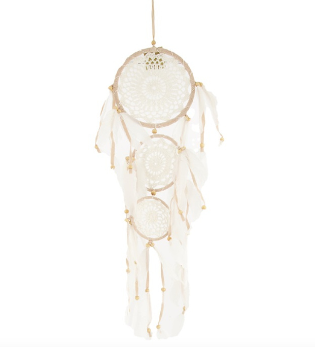 Dream catcher feather 65x19x1cm - Natural