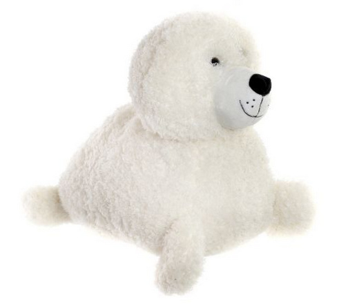 CUDDLY TOY POLYESTER 37X24X25 SEAL WHITE