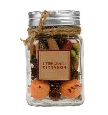 Bottle potpouri cinnamon 7.5x7.5x11.5cm - Natural