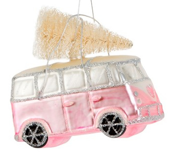 Christmas  Camper Van Pink