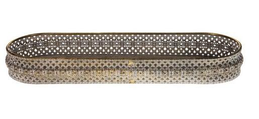 Tray metal 41x13.5x5cm - Antique gold