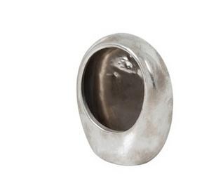 Windlicht Ei Aardewerk Zilver Medium (90160)