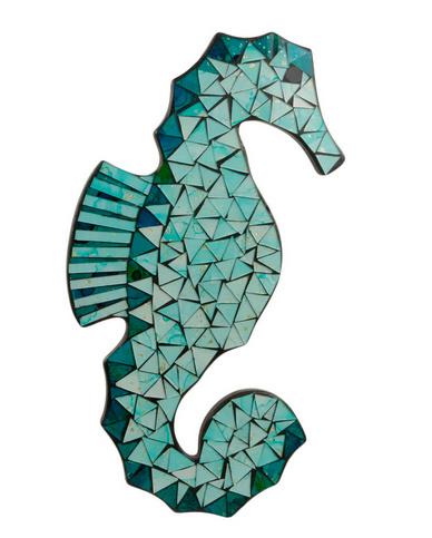 Walldeco mosaic seahorse
