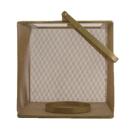 Lantern metal 20.5x20.5x22.5cm - Antique gold