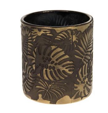 Tealight holder glass Ø7.3x8cm - Gold