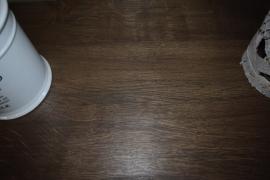 Strakke landelijke sidetable wit met eiken blad + 8 laatjes 220 cm l. x 45 cm d. x 85 cm hg. BR