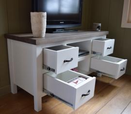 Landelijk TV-meubel 125 cm br x 50 cm diep x 65 cm hoog