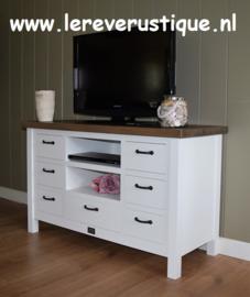 Landelijk TV-meubel 125 cm breed x 50 cm diep x 75 cm hoog
