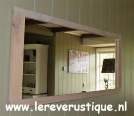 Rustiek eiken spiegel 145 cm breed x 60 cm hoog