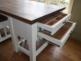 Inleg-bestekbak van eikenhout voor meubels met laden
