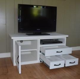 Landelijk TV-meubel in wit 110 x 50 x 50 cm hg
