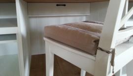 Landelijke Secretaire / Bureau / Home-Office WIT met blad in de kleur Grey 210 cm breed x 215 cm hoog PRIJS OP AANVRAAG