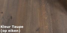 Landelijk eiken sidetable in de kleur Taupe 150 cm lang