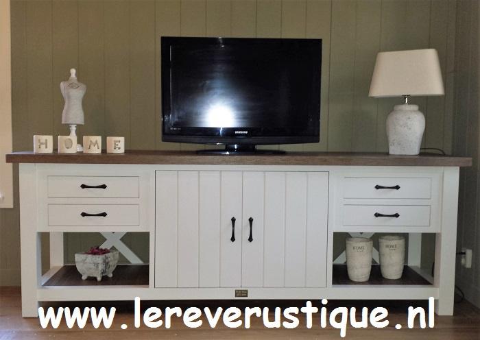 Witte Hoge Tv Kast.Landelijk Witte Tv Meubels Le Reve Rustique