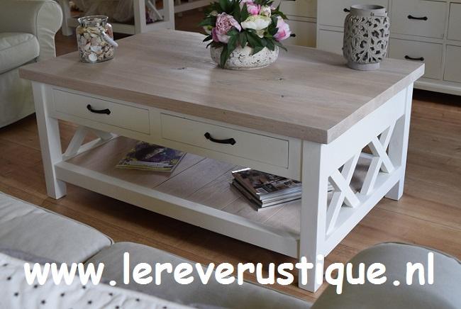 Salon Tafel Wit Landelijk.Landelijke Salontafels Le Reve Rustique