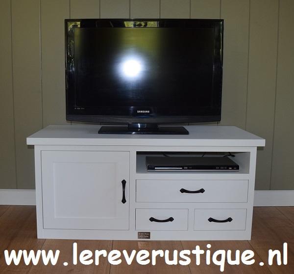 Tv Kast 110 Cm Breed.Landelijk Tv Meubel In Wit 110 X 50 X 50 Cm Hg Landelijk Witte