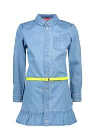 B-nosy meisjes spijker jurk lichtblauw roezel