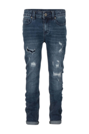 Indian Blue Jeans jongens Jay tapared fit donkerblauw