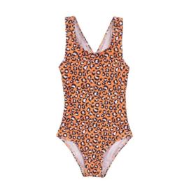 Koko noko meisjes badpak panter oranje