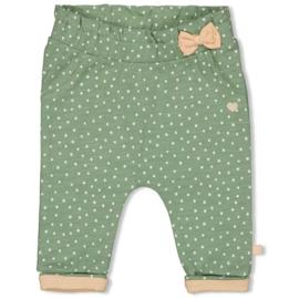 Feetje meisjes broekje stipjes groen