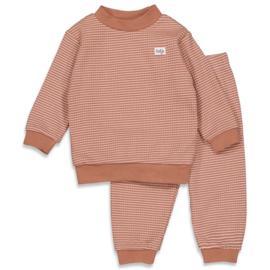 Feetje baby wafel pyjama hazelnoot bruin